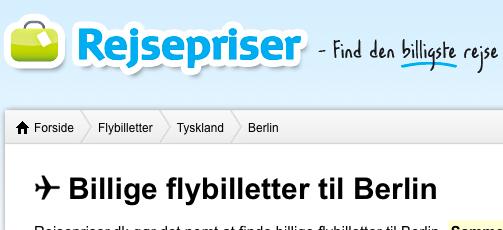 Flybilletter via rejsepriser.dk
